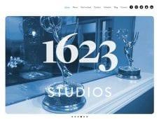 Website design for 1623Studios