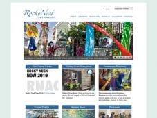 Website Design for Rocky Neck Art Colony